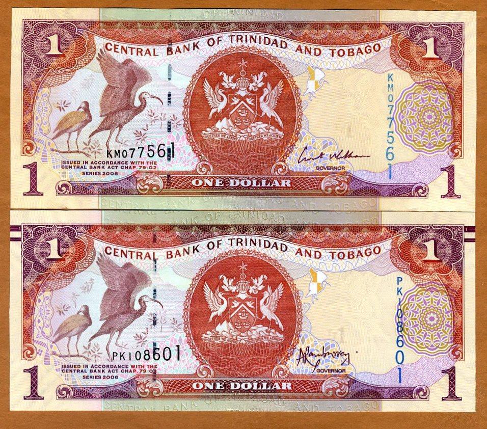 Set 10 PCS Pick- 46 Trinidad And Tobago UNC 1 Dollar 2006