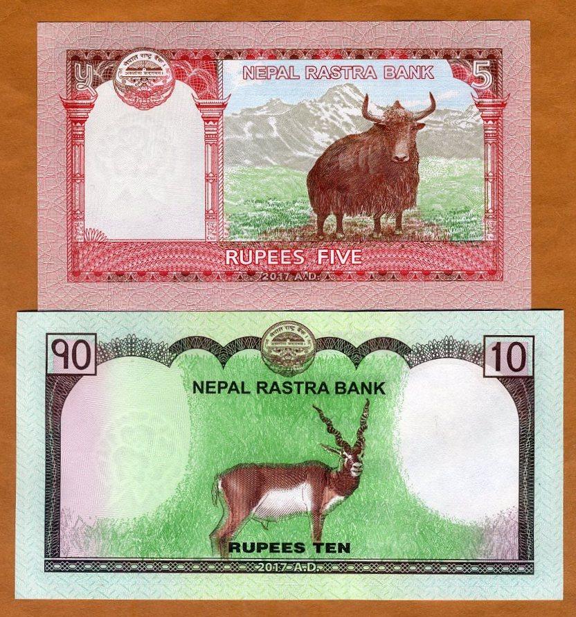 NEPAL 5 RUPEES 2009 P 60 EVEREST YAKS UNC LOT 10 PCS