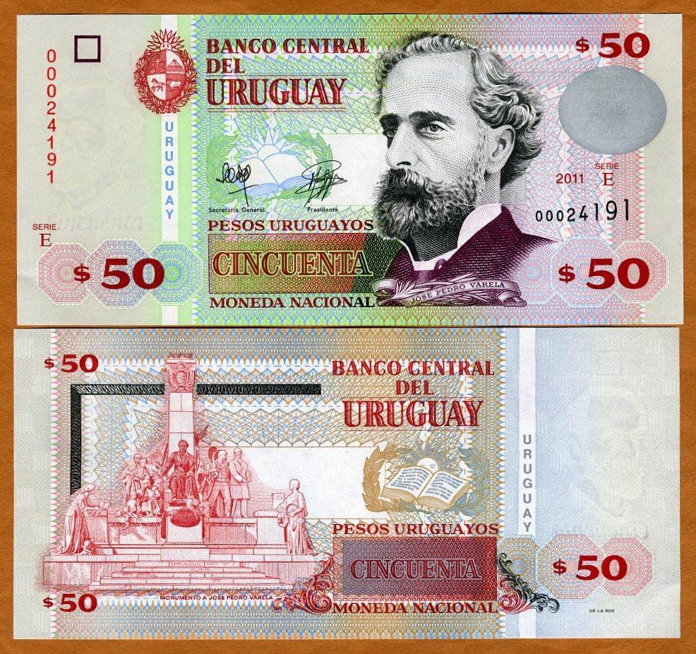 Uruguay 2011 50 Pesos Uruguayos UNC P-87-New