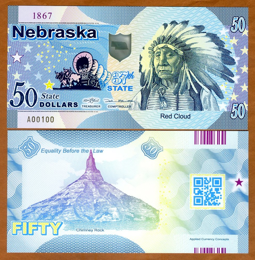 2019 $50 USA States UNC Polymer Kit Carson ND Colorado
