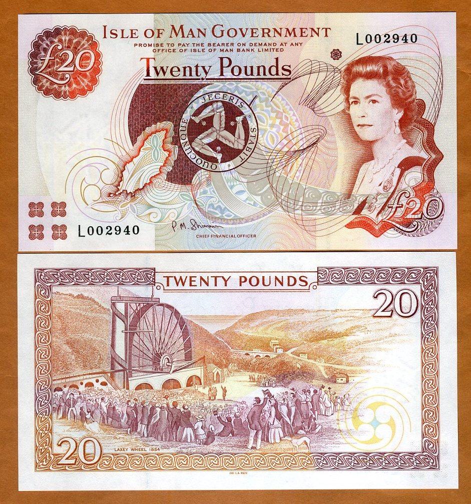 Jersey 1 Pound ND 2000 Pick 26.b UNC Uncirculated Banknote