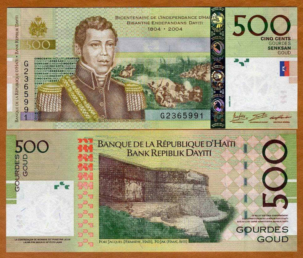 2014 P-277-New Signature and date UNC 500 Gourdes Commemorative Haiti