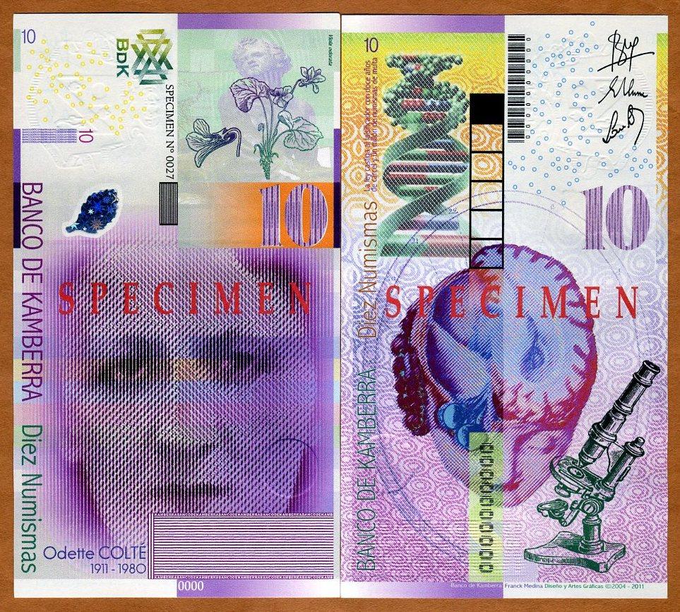 Kingdom UNC /> Marlene Dietrich Kamberra 5 Numismas Specimen 2012