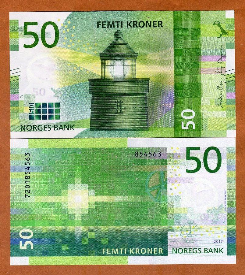 UNC 200 Kroner 2016 Norway P-New Redesigned 2017