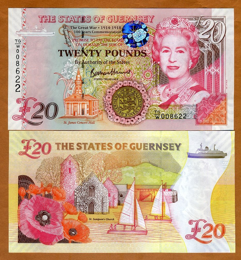 Great Britain Guernsey Island 1991 Banknotes 1 Pounds UNC