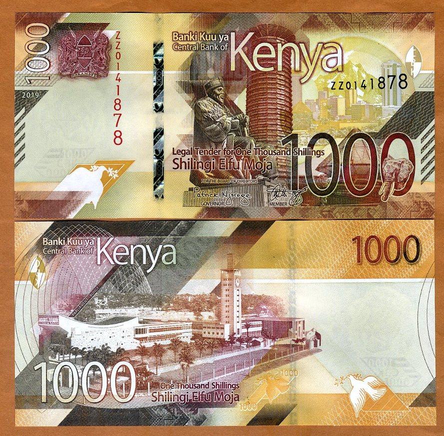 ZZ-Prefix REPLACEMENT 1000 shillings 2019 UNC /> New Design Kenya P-New