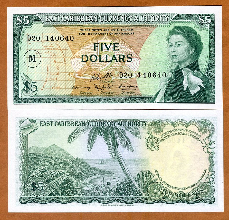 EAST CARIBBEAN 50 DOLLARS 2019 P NEW DESIGN POLYMER QE II AUNC ABOUT UNC