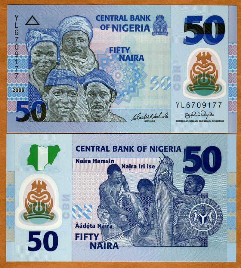 nigeria, 50 naira, 2009, p-35d, polymer, unc