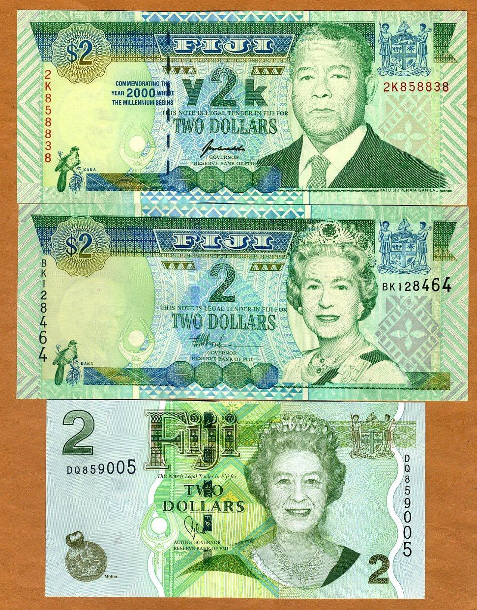 P-110b 2007 FIJI 2011 UNC /> New title and sig. QEII 5 dollars