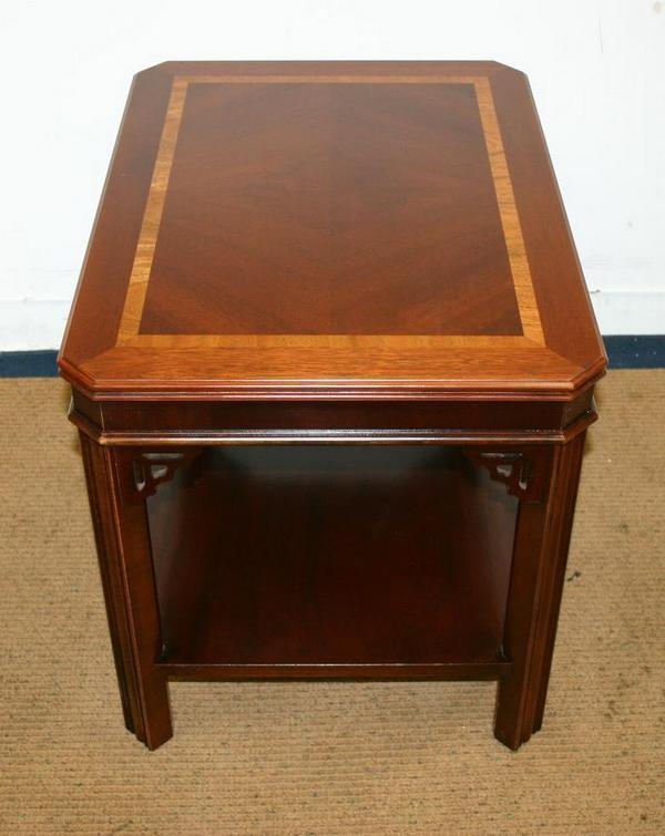 Antique Style Traditional Lane Mahogany Chippendale End Side Coffee Table Ebay