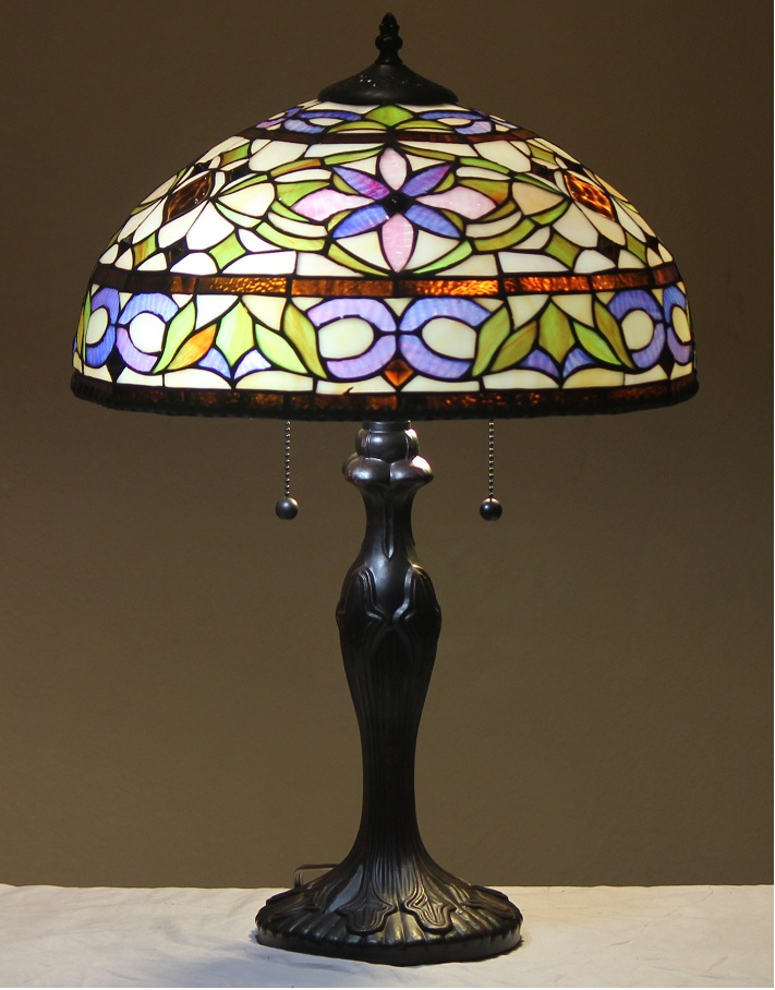 tiffany style stained glass table lamp adagio free ship. Black Bedroom Furniture Sets. Home Design Ideas
