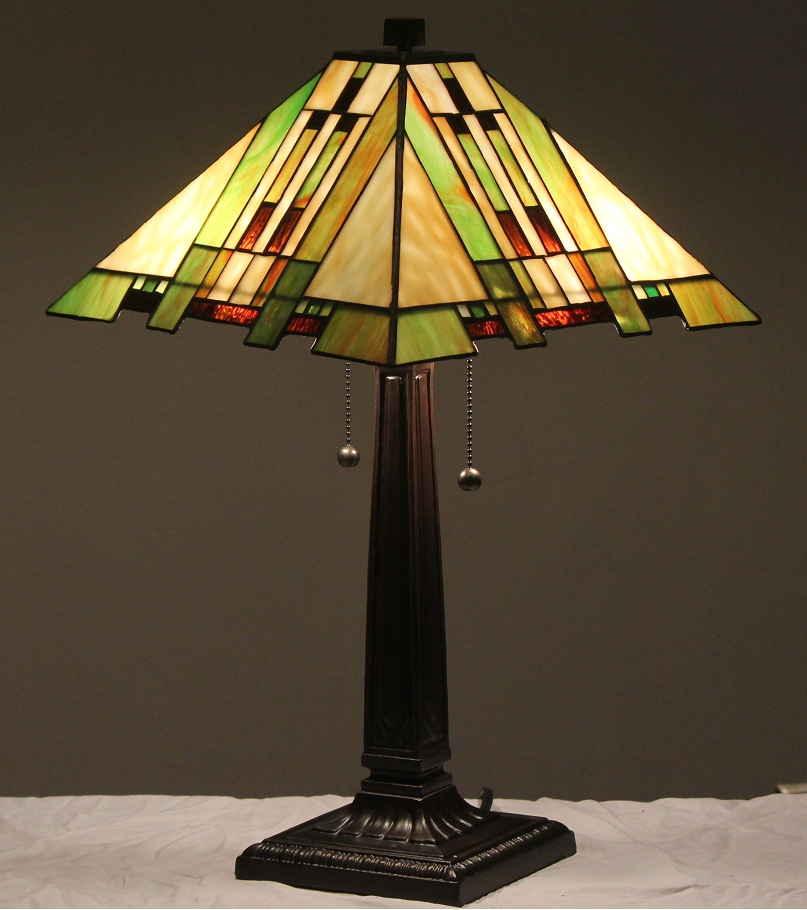 tiffany style stained glass mission lamp aspen aspentiffany. Black Bedroom Furniture Sets. Home Design Ideas