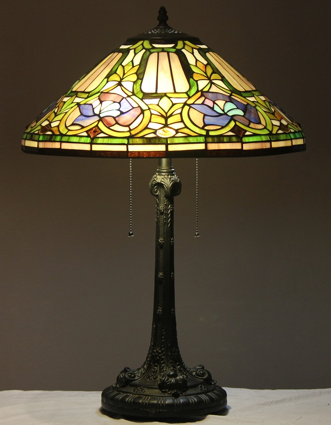 Stained Glass Wall Lamp Shades : Tiffany Style Stained Glass Lamp