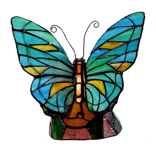 details about tiffany style stained glass lamp butterfly. Black Bedroom Furniture Sets. Home Design Ideas