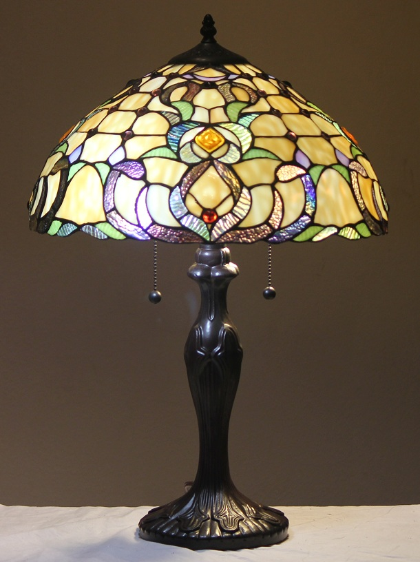 tiffany style stained glass table lamp dublin free ship. Black Bedroom Furniture Sets. Home Design Ideas