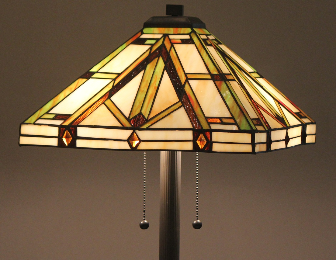 tiffany style stained glass floor lamp golden mission w tiffany winter. Black Bedroom Furniture Sets. Home Design Ideas