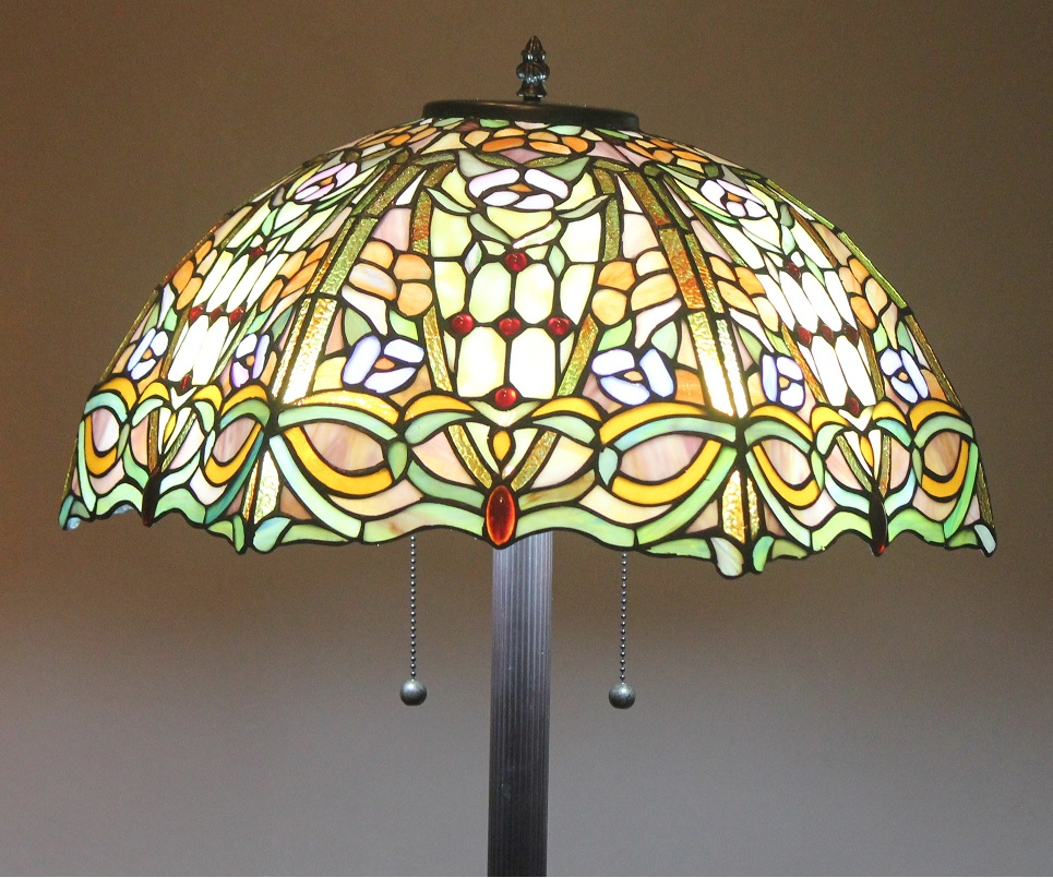 details about tiffany style stained glass floor lamp regency w 2. Black Bedroom Furniture Sets. Home Design Ideas