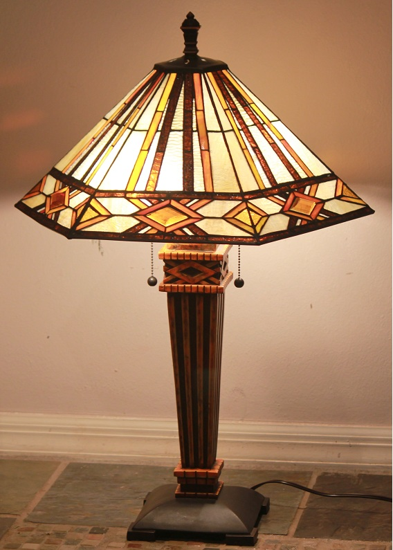 tiffany style stained glass mission lamp tucson shade. Black Bedroom Furniture Sets. Home Design Ideas