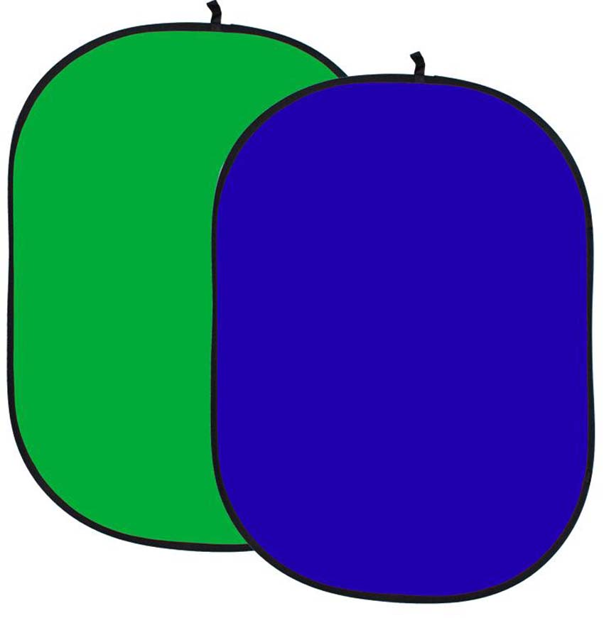 Faltreflektor, grün/greenscreen und blau/bluescreen