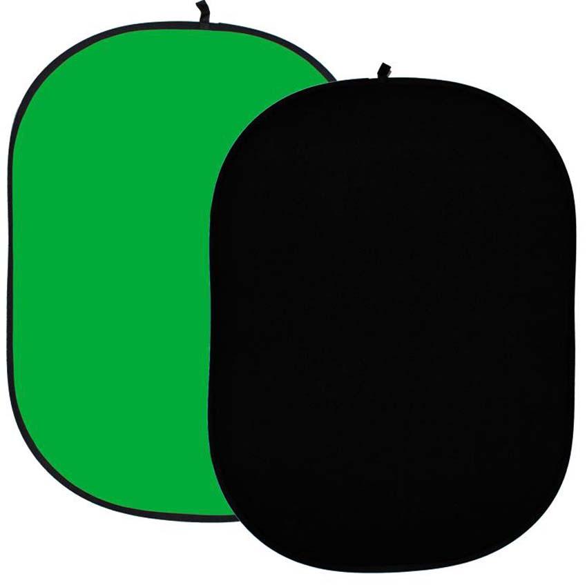 Faltreflektor, schwarz und grün/greenscreen