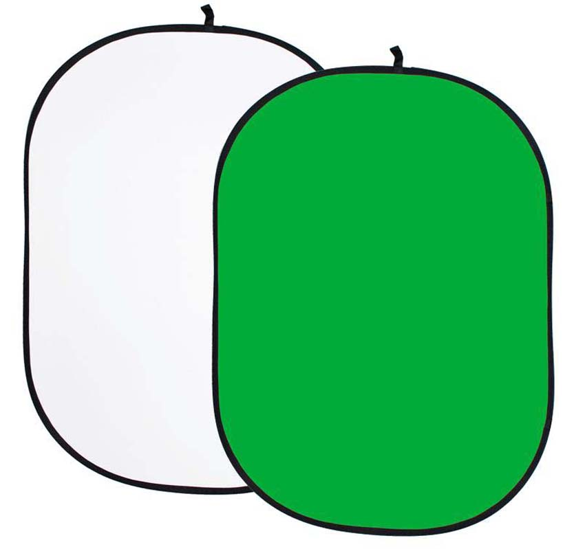 Faltreflektor, weiß und grün/greenscreen