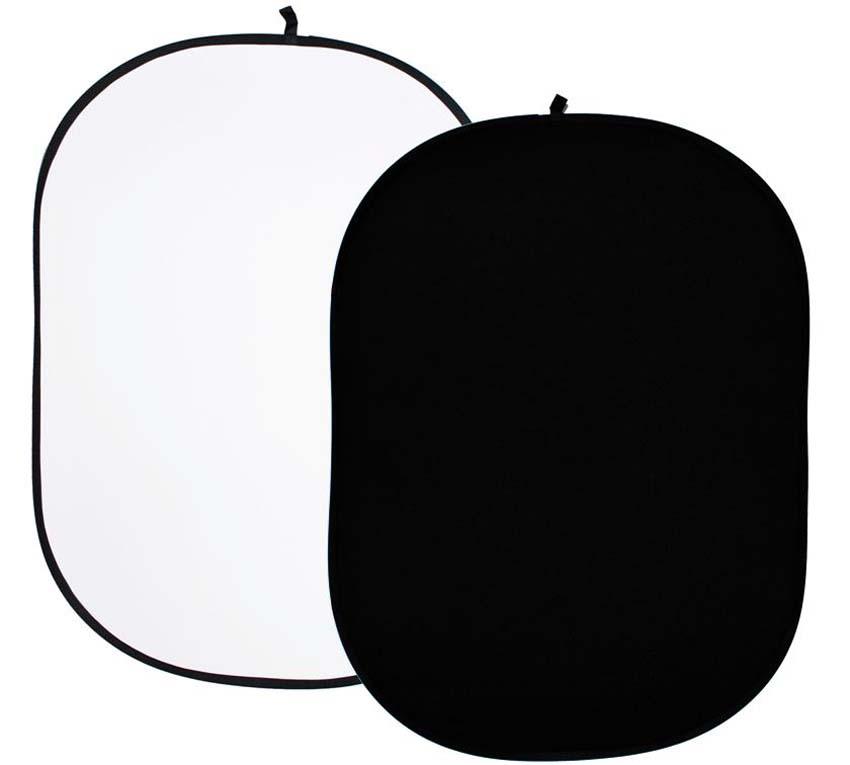 Faltreflektor, weiß und schwarz