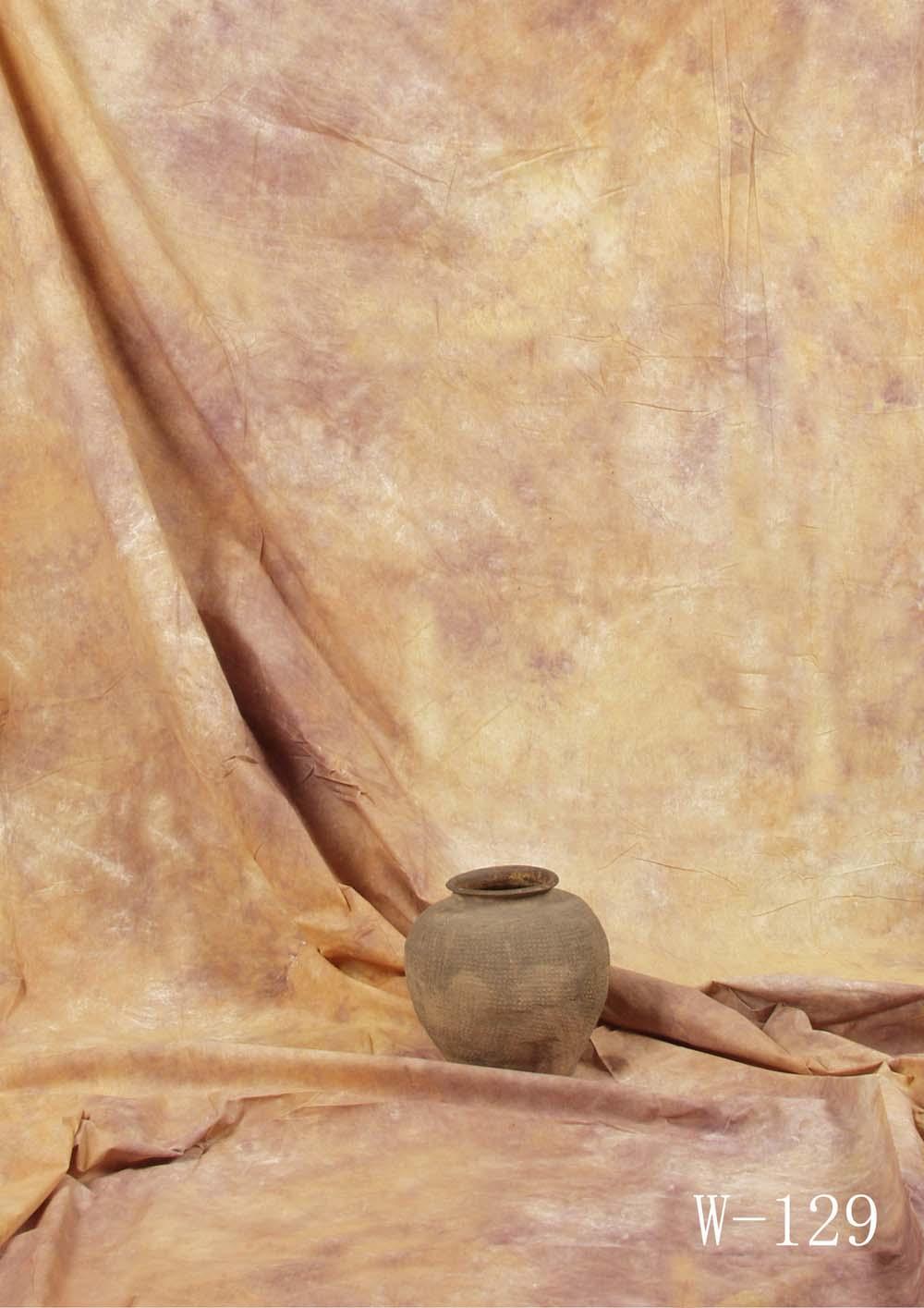 Fotostudio Hintergrund  strukturiert goldbraun Batik
