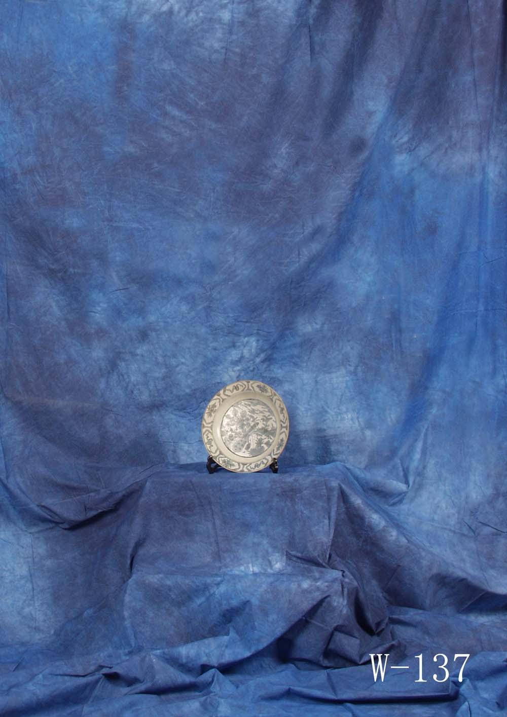 Fotostudio Hintergrund  strukturiert Blau Batik