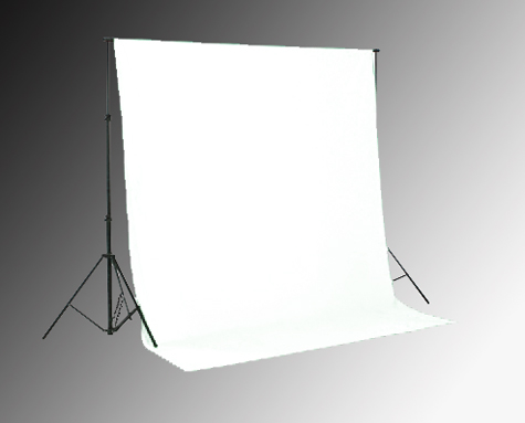 Hintergrundsystem inkl. Studiohintergrund weiß