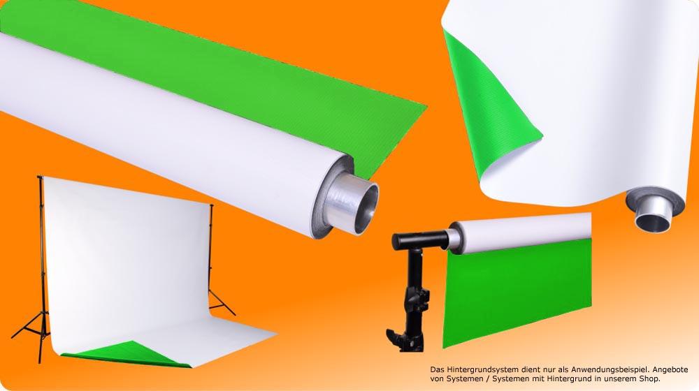 Vinylhintergrund grün (greenscreen) und weiß, moderntex