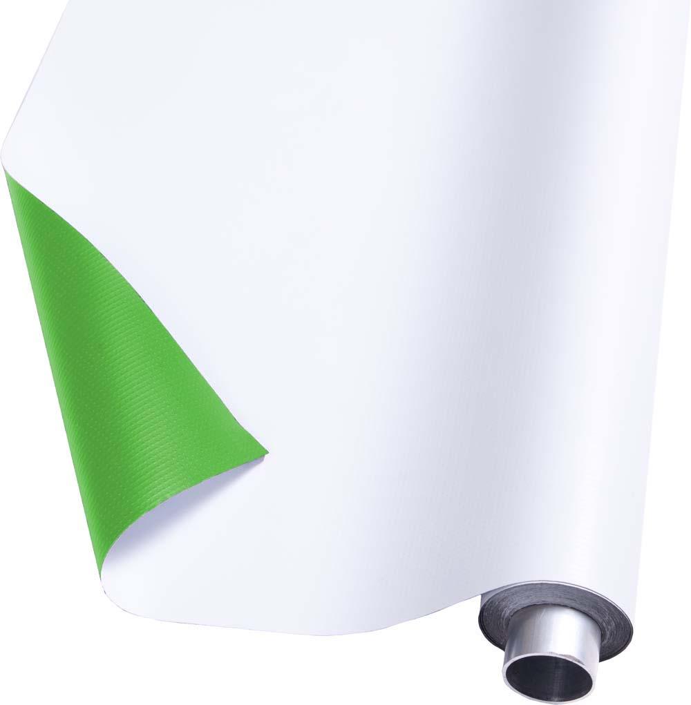 DUO Vinyl Hintergrund grün (greenscreen) und weiss, moderntex