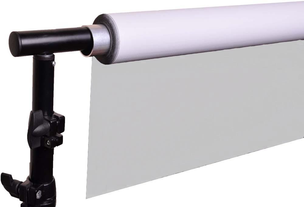 DUO Vinylhintergrund weiß und grau, moderntex