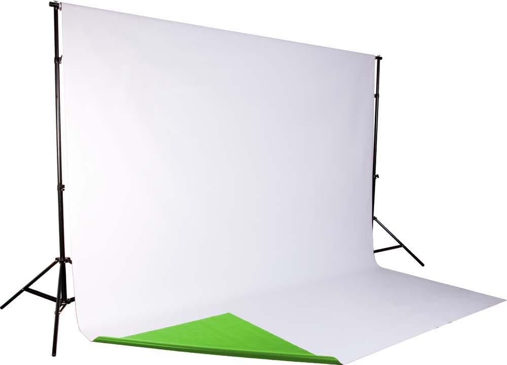 DUO Vinylhintergrund grün (greenscreen) und weiss, moderntex