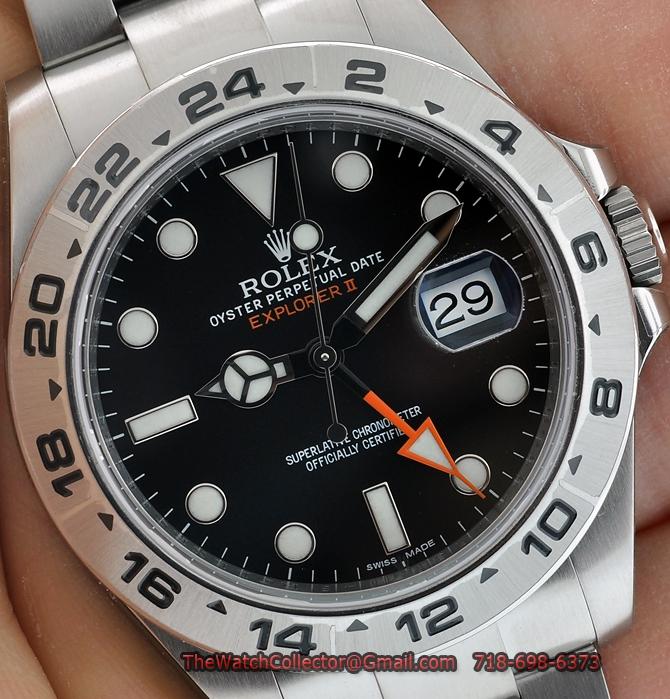 ROLEX EXPLORER II 42MM ORANGE HAND BLACK DIAL 216570 NEW ...