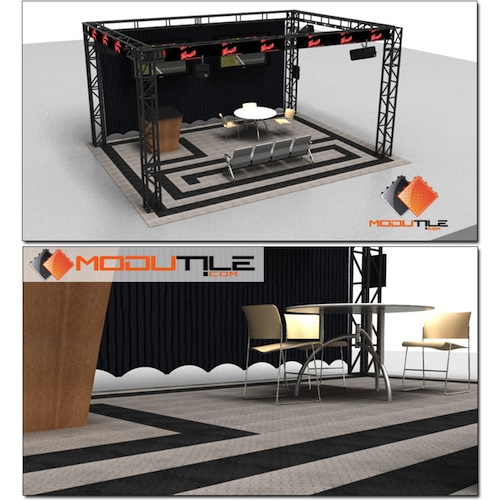 ModuTile Trade Show Flooring Diamond - 27 sq. ft. - Brown at Sears.com