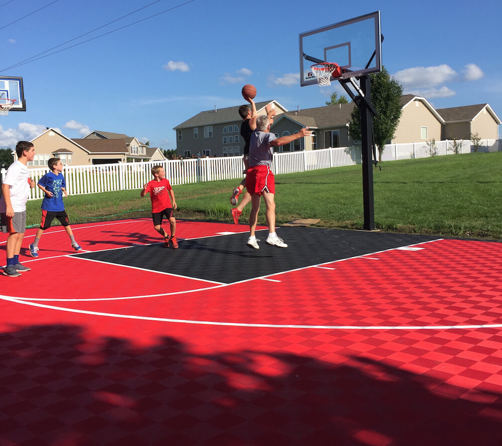 Material: This Product Is A Residential Basketball Court Floor Engineered  For Outdoor ...