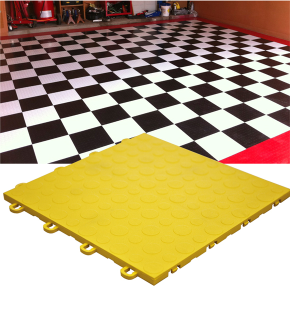 Coin tile flooring