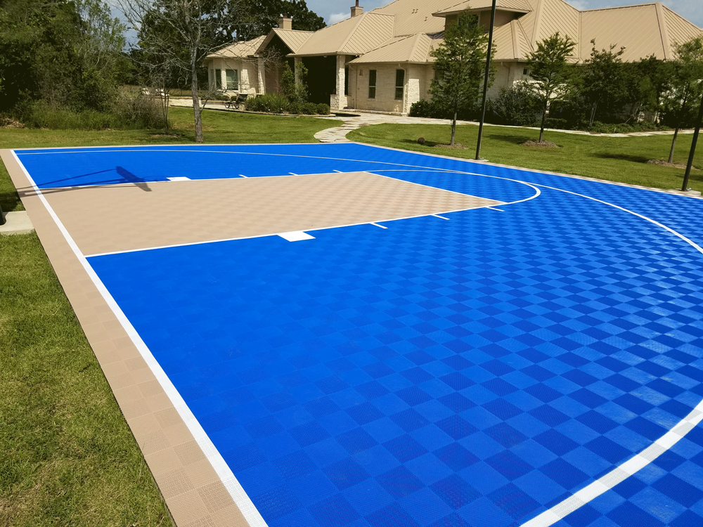 30ft x 25ft Outdoor Basketball Half Court Kit-Lines and ...