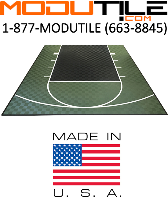 46ft X 30ft Outdoor Basketball Half Court Kit -Lines And
