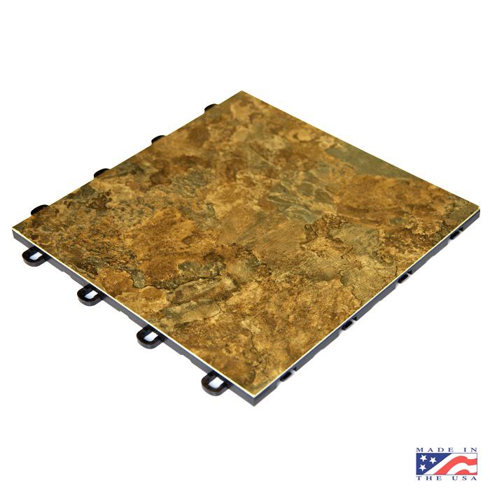 Laminate dark slate interlocking floor for Interlocking laminate flooring