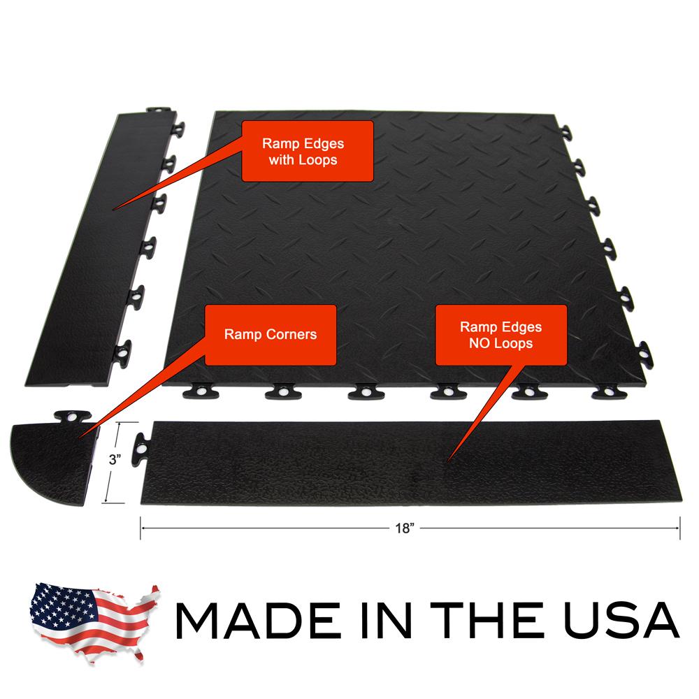 Flexible pvc garage flooring diamond top sample kit for Garage en kit pvc