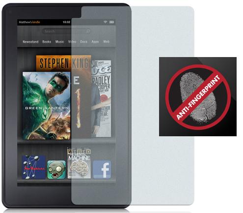 GLARE FINGERPRINT LCD SCREEN PROTECTOR SAVER FOR  KINDLE FIRE 7