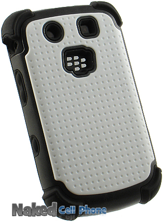 White Black Soft Rubber Skin Hard Case Cover for Blackberry Torch 4G 9800 9810