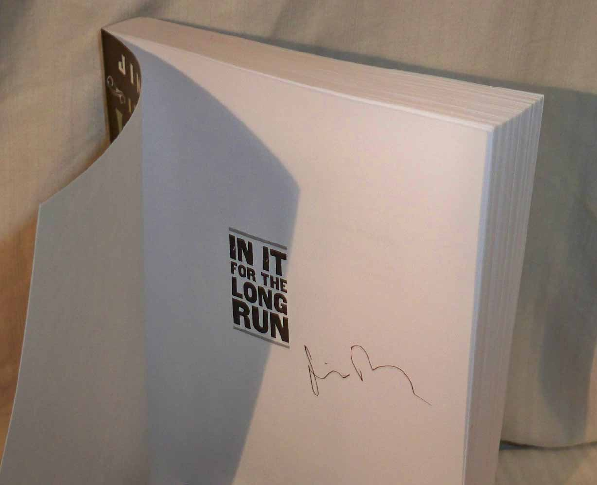JIM ROONEY - In It For The Long Run SIGNED BOOK