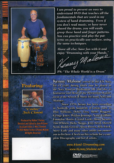 DRUMMING WITH YOUR HANDS - Kenny Malone - DVD