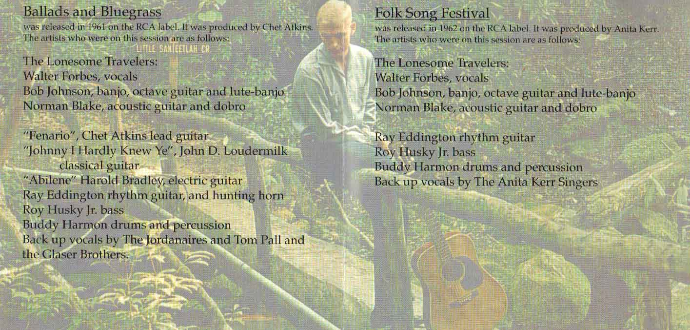 BALLADS & BLUEGRASS / FOLK SONG FESTIVAL - Walter