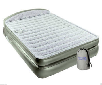 "Aerobed 18"" Queen Size Air Mattress Bed W Headboard"