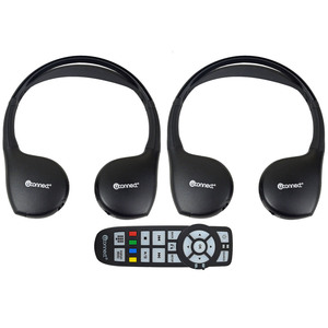 2 New Headphones Headsets UConnect Wireless + Dvd Remote Town & Country Caravan | eBay