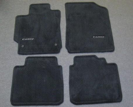 oem toyota camry floor mat floormats set black dark ebay. Black Bedroom Furniture Sets. Home Design Ideas