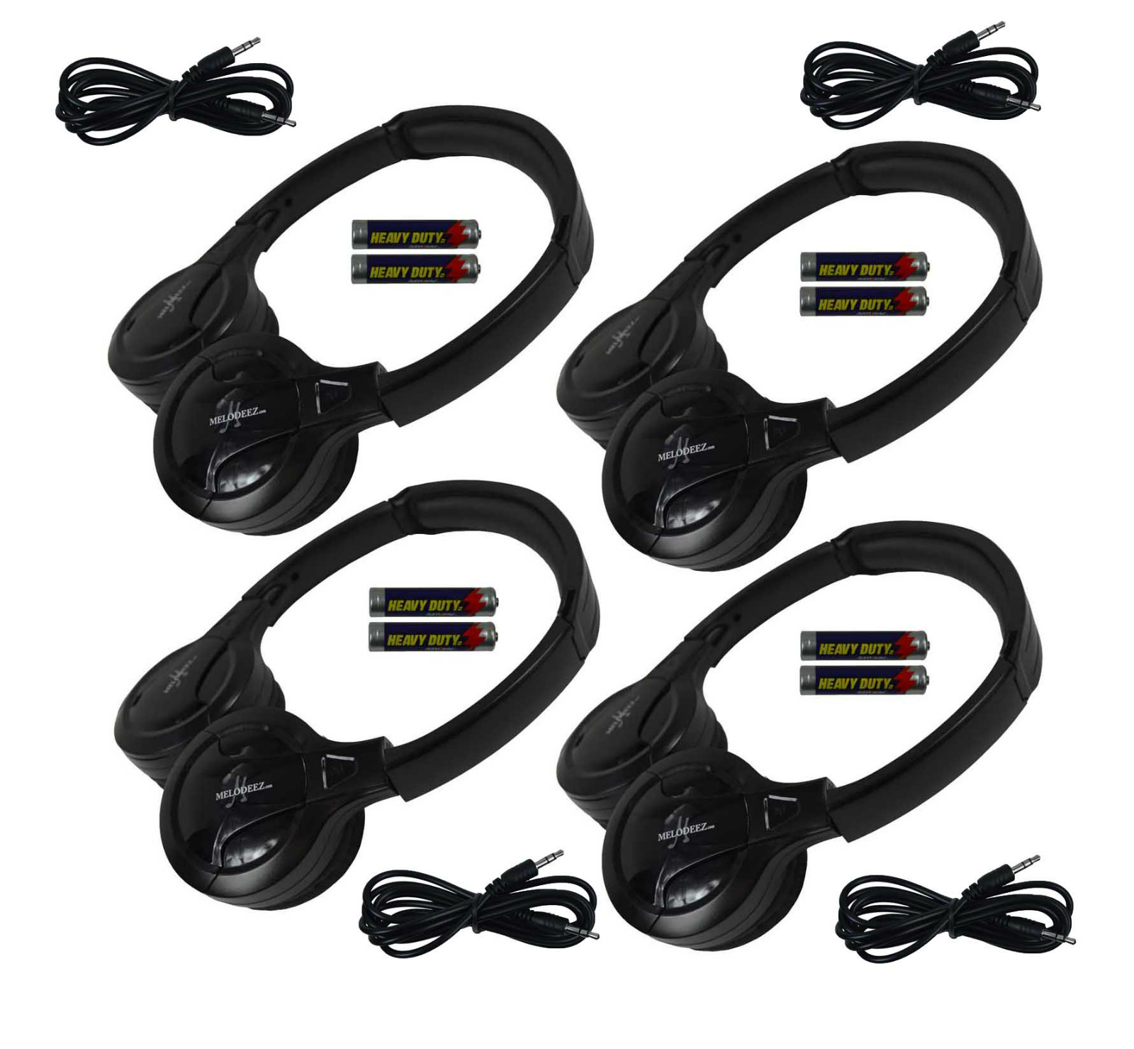 4 fold in wireless infrared dvd headphones headset wire for Mercedes benz wireless headphones